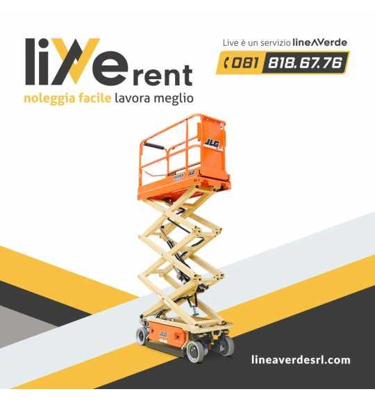 LiveRent JLG Piattaforma verticale mobile a pantografo fino a 7,72 mt di lavoro