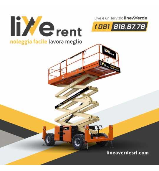 LiveRent JLG Piattaforma verticale mobile a pantografo per terreni accidentali con stabilizzatori