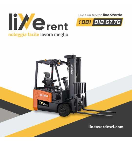 LiveRent DOOSAN Carrello elevatore elettrico 3 o 4 ruote (48 volt)